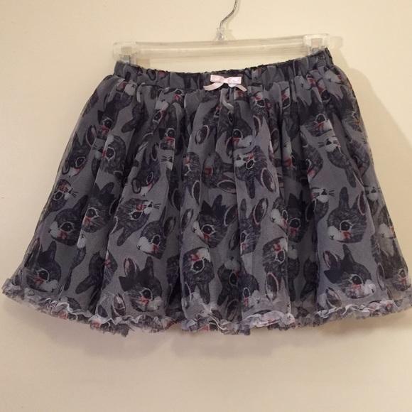 cb8422e5f H&M Bottoms | Hm Girls Gray Bunny Rabbit Tulle Skirt | Poshmark